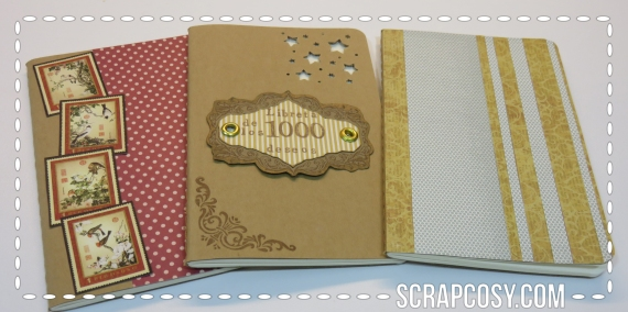 decorated moleskines - Set 1 - front