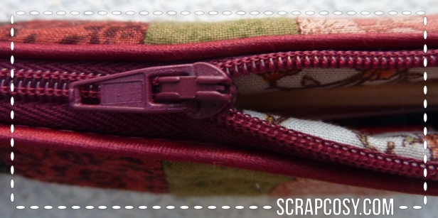 20150807 - NYC trip pencil case - 1 - zipper opening