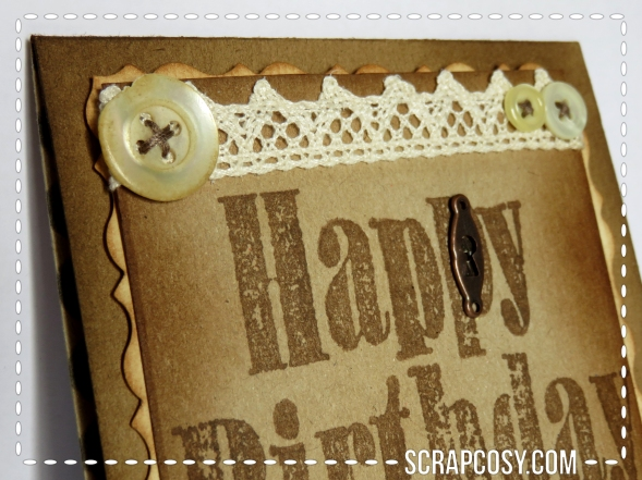 Vintage birthday card 1 - details top