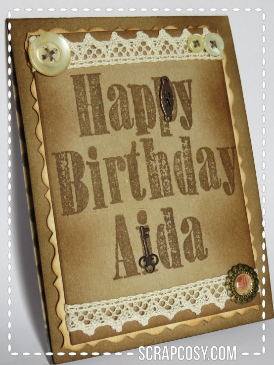 Vintage birthday card 1 - portrait