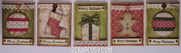 20150908 - Christmas cards 2015 collection paper - 5 cards