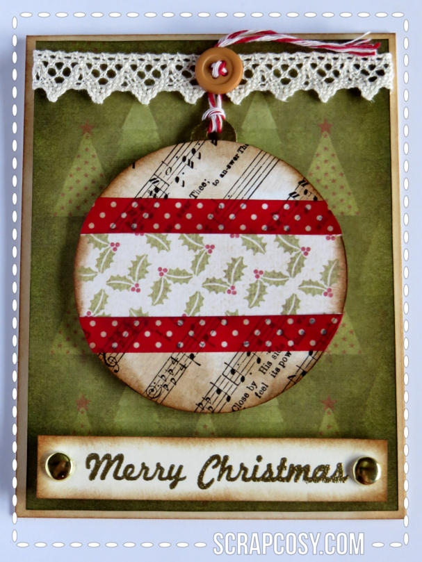 20150908 - Christmas cards 2015 collection paper - ball 1 - front - scrapcosy
