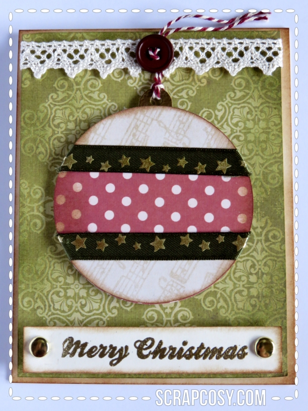 20150908 - Christmas cards 2015 collection paper - ball 2 - front - scrapcosy