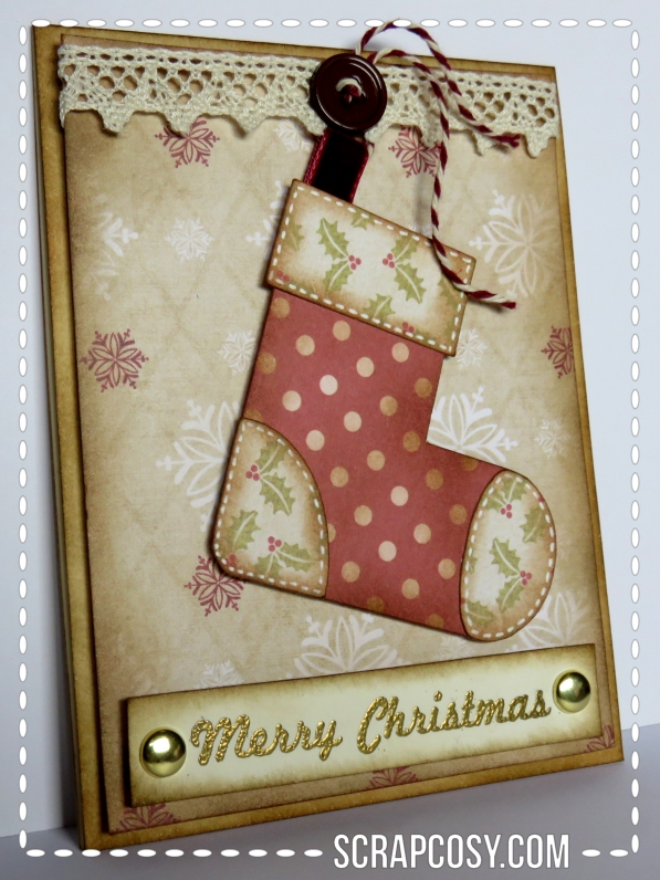 20150908 - Christmas cards 2015 collection paper - stocking - side - scrapcosy