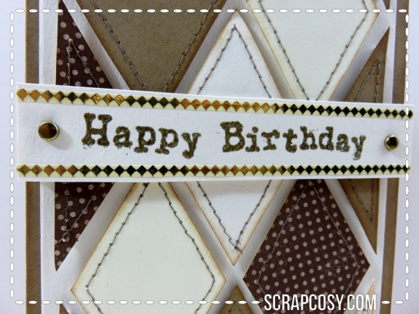 stitched diamonds happy birthday scrapcosy
