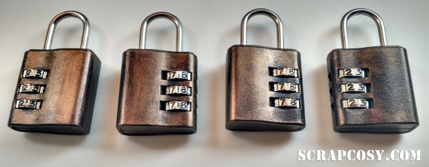 ikea padlock customised by scrapcosy
